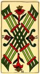 Marseilles 6 of Wands