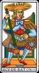 King of Wands (Marseilles Tarot)