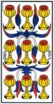 Nine of Cups (Marseilles Tarot)