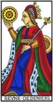 Queen of Pentacles (Marseilles)
