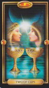Gilded Tarot- Two of Cups