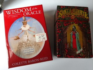 Deck boxes for Santa Muerte Tarot and Wisdom of the Oracle Divination Cards