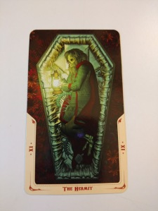 The Hermit from the Santa Muerte Tarot