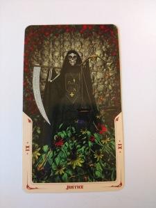 Justice- XI from Santa Muerte Tarot