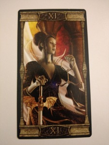 Justice- XI from the Vampires Tarot of the Eternal Night