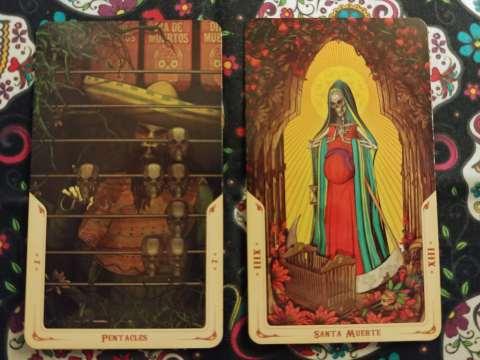 Two Tarot cards:
