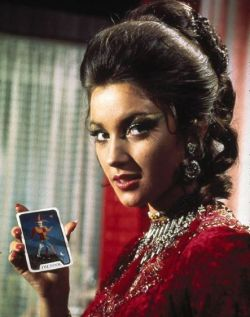 Jane Seymour as Solitaire the voodoo reader in Live and Let Die film small