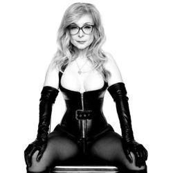 Nina Hartley in fetish gear, photographed by Mark Dektor