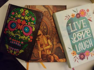 Selection of Tarot journal notebooks filled_01142020 small
